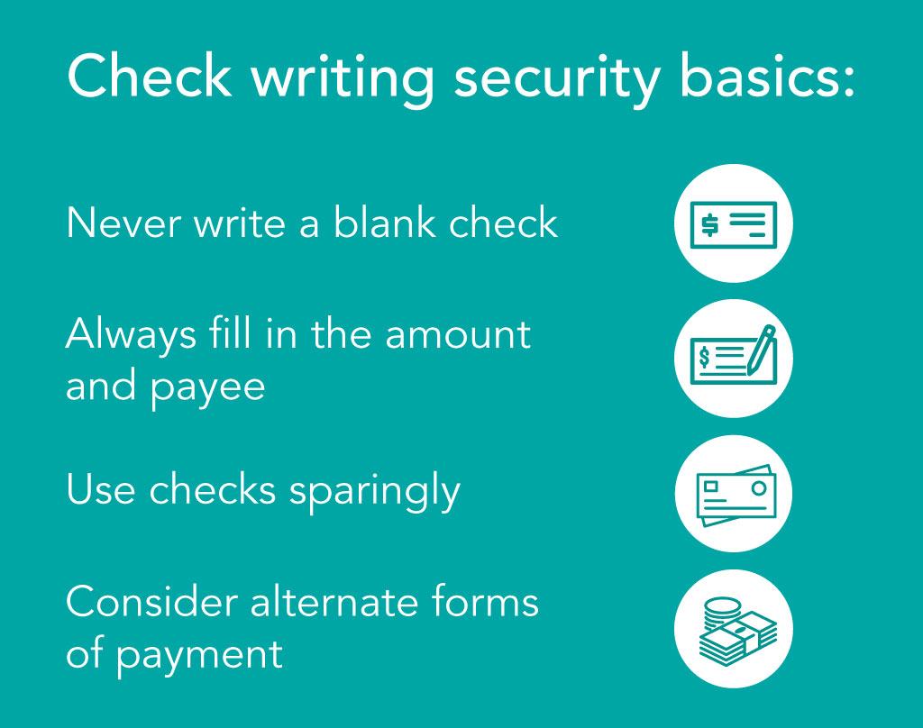 Check writing security basics