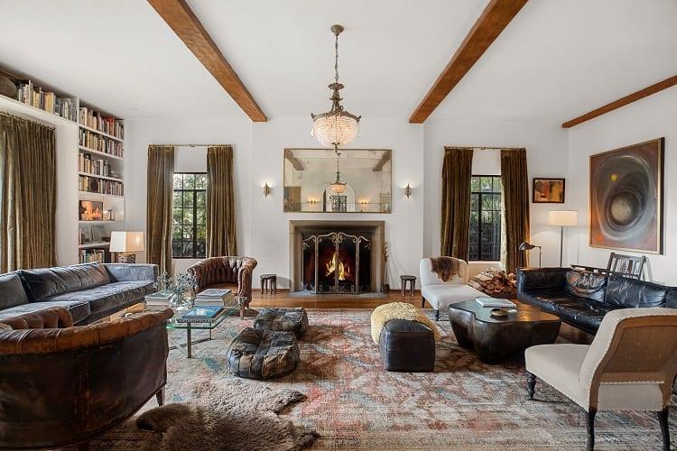 inside actor walton goggins' living room