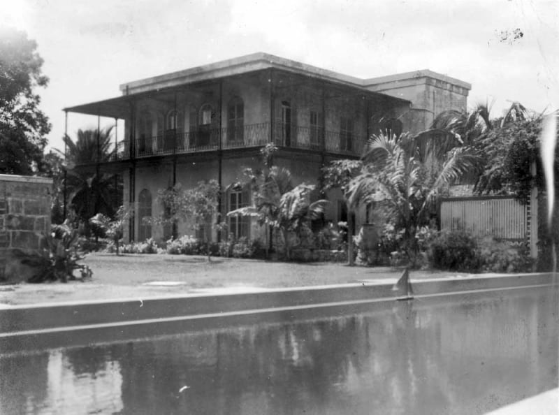 Hemingway's house in Key West before being restored